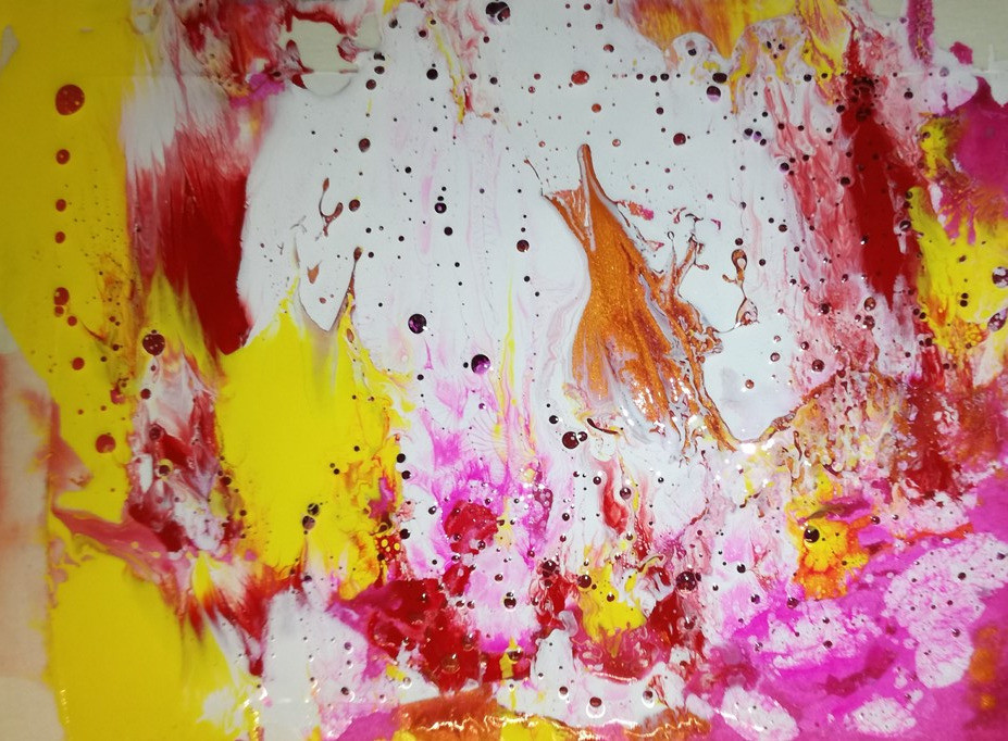 abstract painting dirty pour background