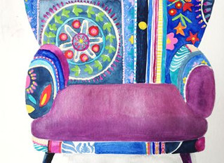 Funny chair watercolor