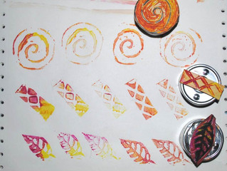 Making your own stamps with linocut