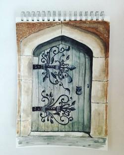 #door #olddoor #oldbuildings #sketch #qu