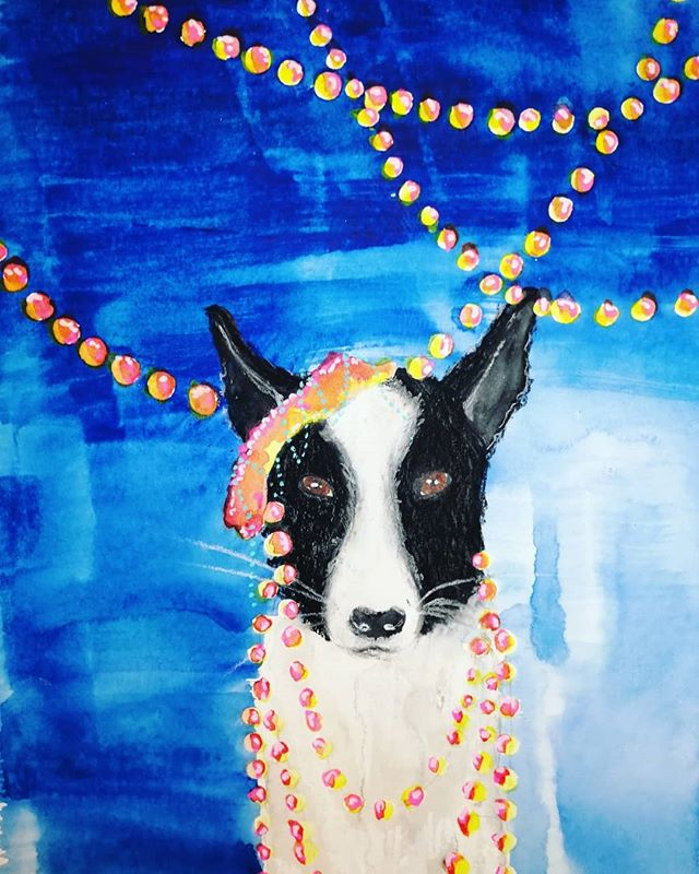 #dog #pet #mixedmedia #mixedmediaartist