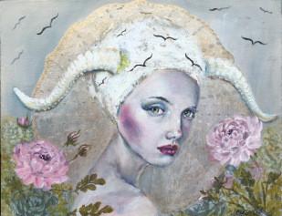 olga furman - a girl with horns