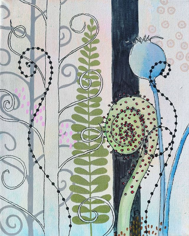 #littlejungle #fern #mixedmedia #mixedme