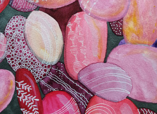 Watercolor pebbles