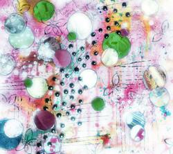 5 pink green circles_society6