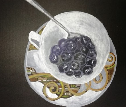 blueberry blueberries in a Klimt cup