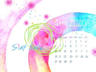 Calendar for April 2020