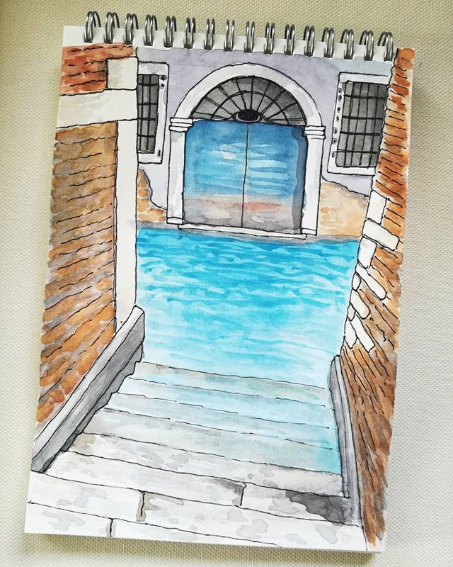 #urbansketch #watercolor #aquarelle #ven