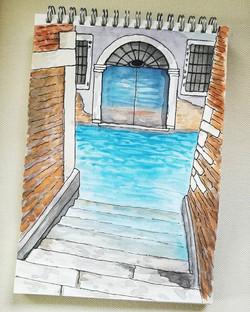 #urbansketch #watercolor #aquarelle #ven