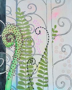 #littlejungle #fern #mixedmedia #mixedme