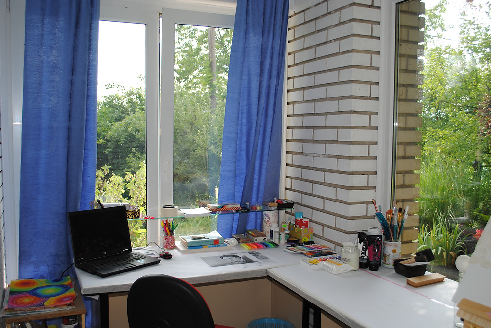 my art studio - drawing table