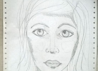 Easy way to learn drawing artistic faces with Dina Wakley
