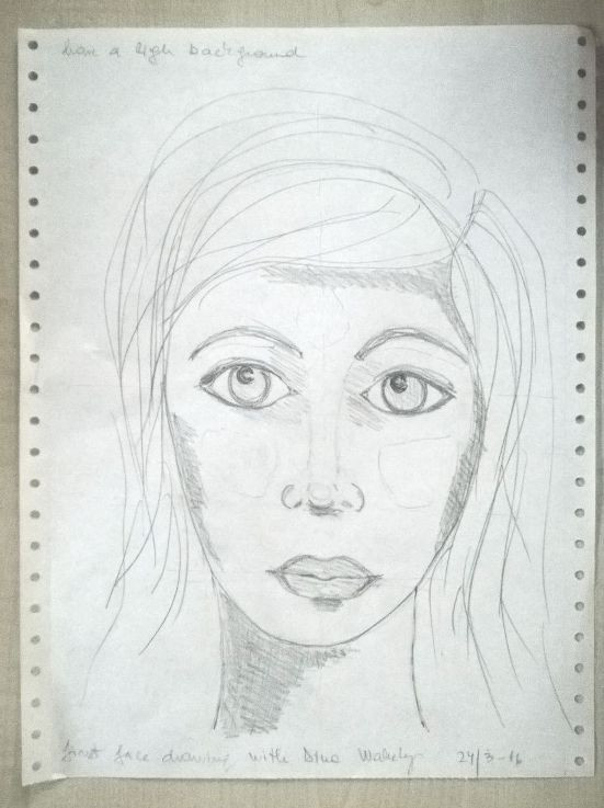 first artistic face sketch