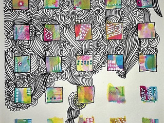 Doodle little squares - video tutorial