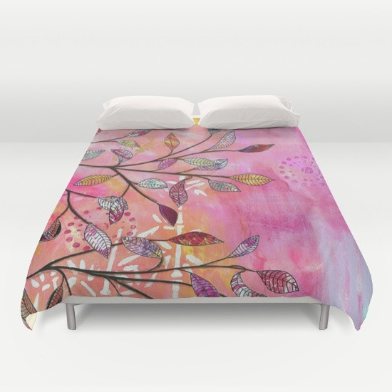 bed linen with my design - pink branch