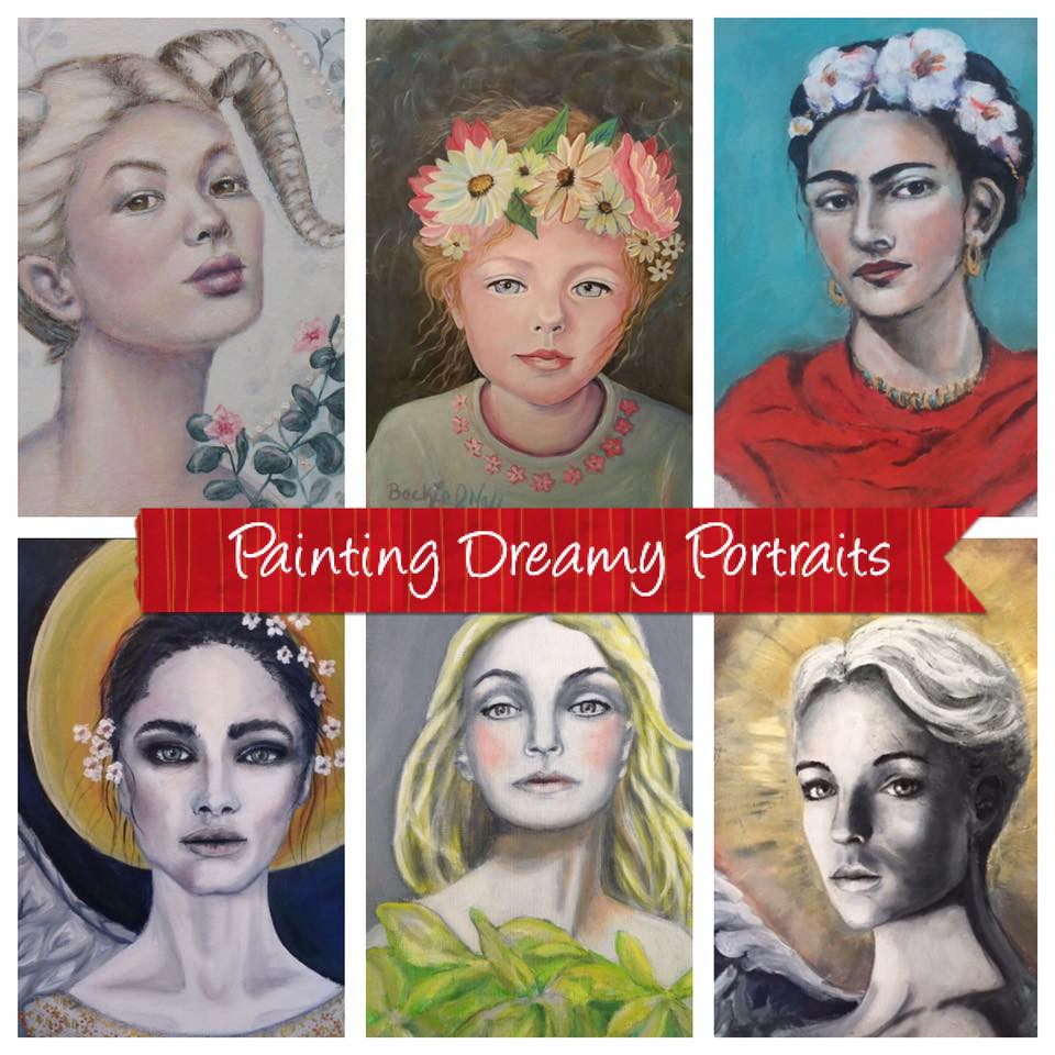 painting dreamy portratits on-line course with Olga Furman