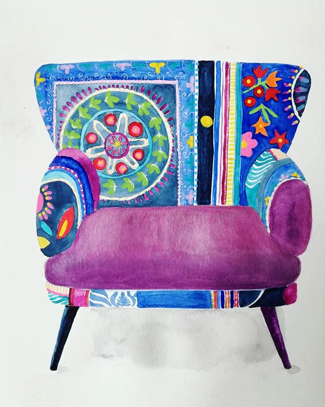 #chair #purple  #blue #pattern #patterns