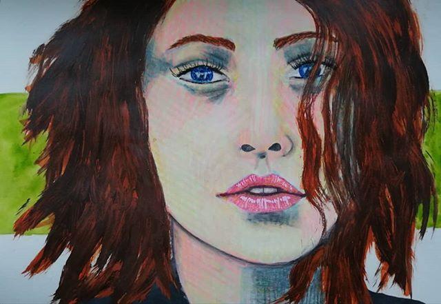 #portrait #mixedmedia #mixedmediaartist
