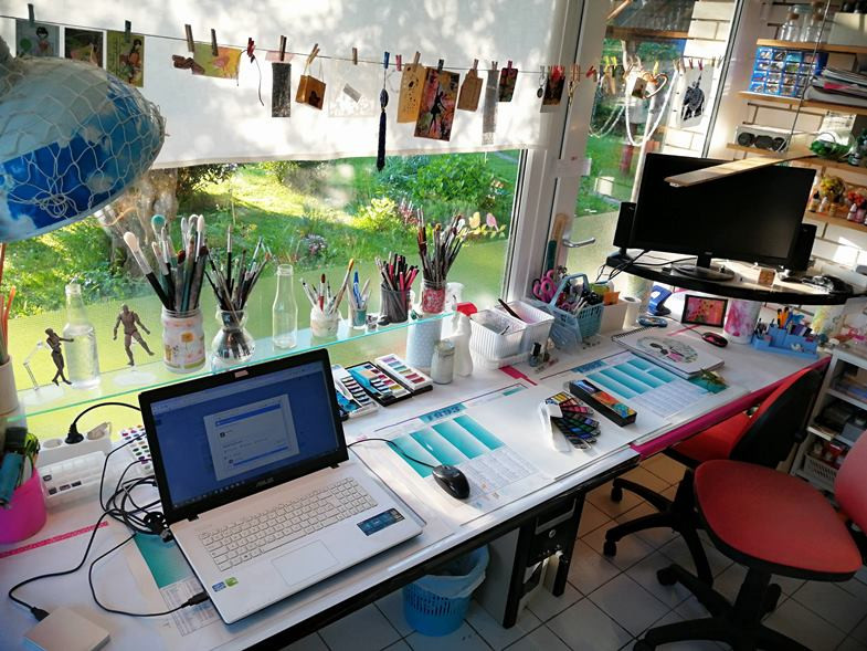 art studio home clean and tidy reorganized