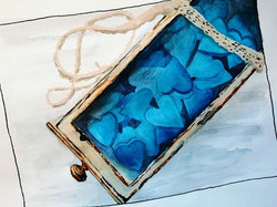 #watercolor #blue #bluehearts #drawer #c