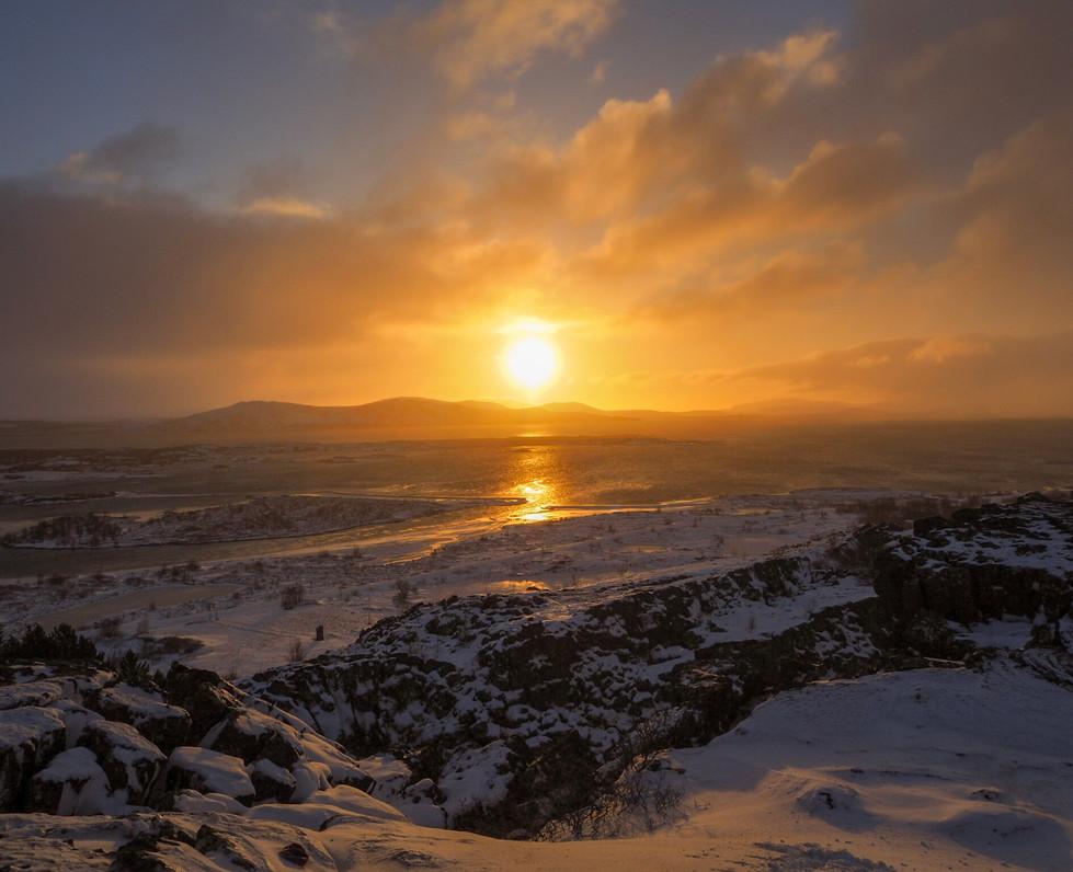 Sunrise at Þingvellir (Thingvellir) National Park
