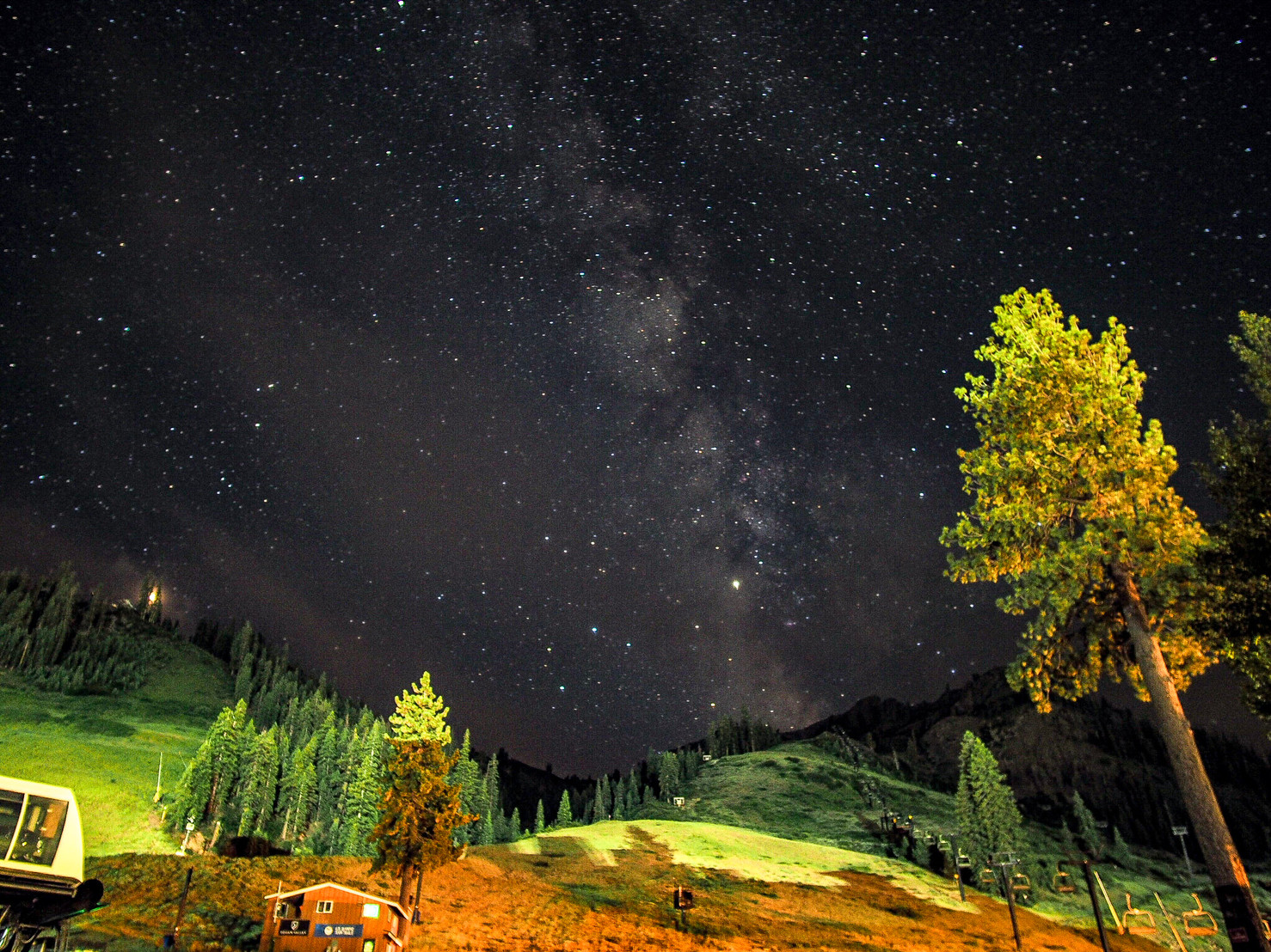 Milky Way over Squaw Valley