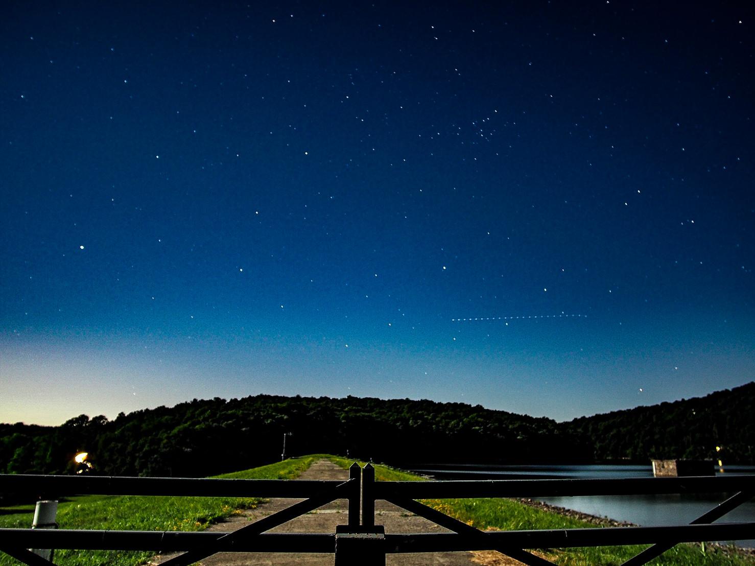 Night sky over Amawalk Reservoir