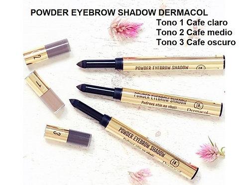 Lapiz de ceja en sombra, Dermacol powder eyebrow shadow 3 tonos