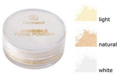 Polvo Dermacol invisible fixing powder 3 tonos, light, natural & white