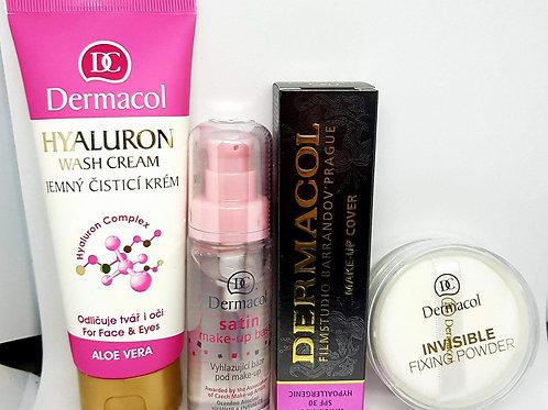 Kit dermacol clásico + primer + polvo + desmaquillante
