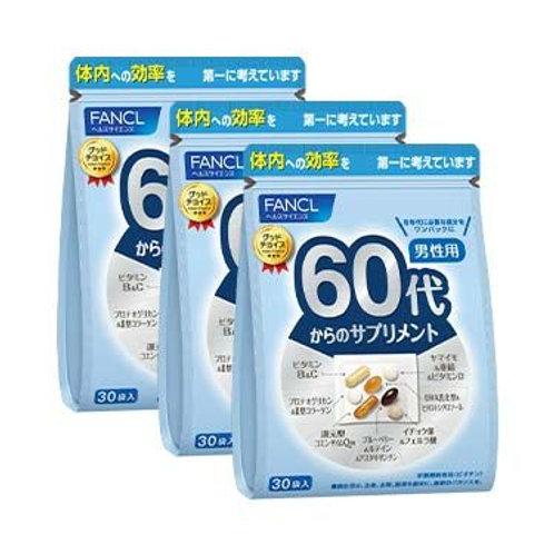Комплекс витаминов и минералов для мужчин Fancl Good Choice Men 60+