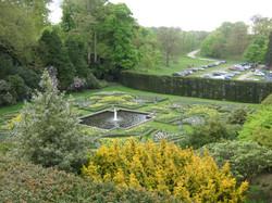 The ornamental gardens at Lyme Park