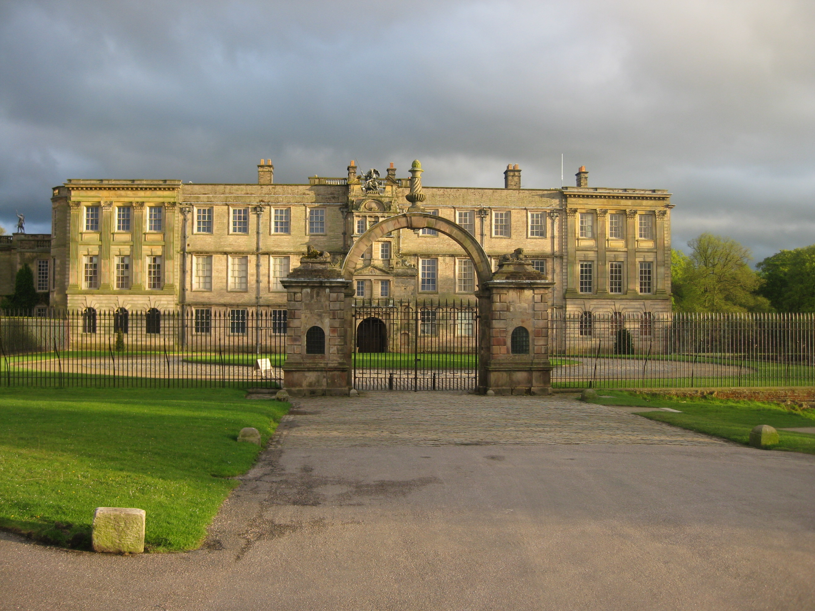 The West entrance to Lyme Park