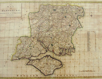 18th century map of Hampshire
