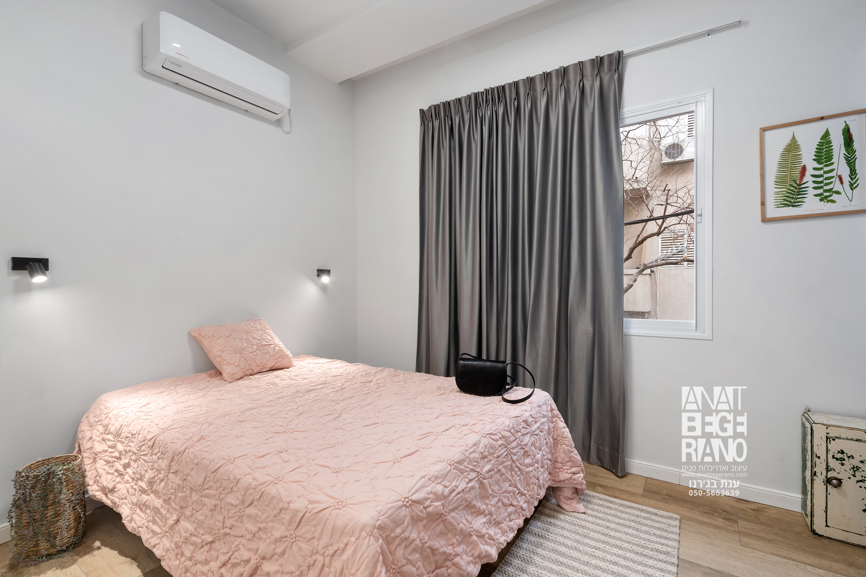 חדר שינה בצבעי פסטל