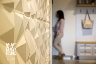 עיצוב קיר גאומטרי