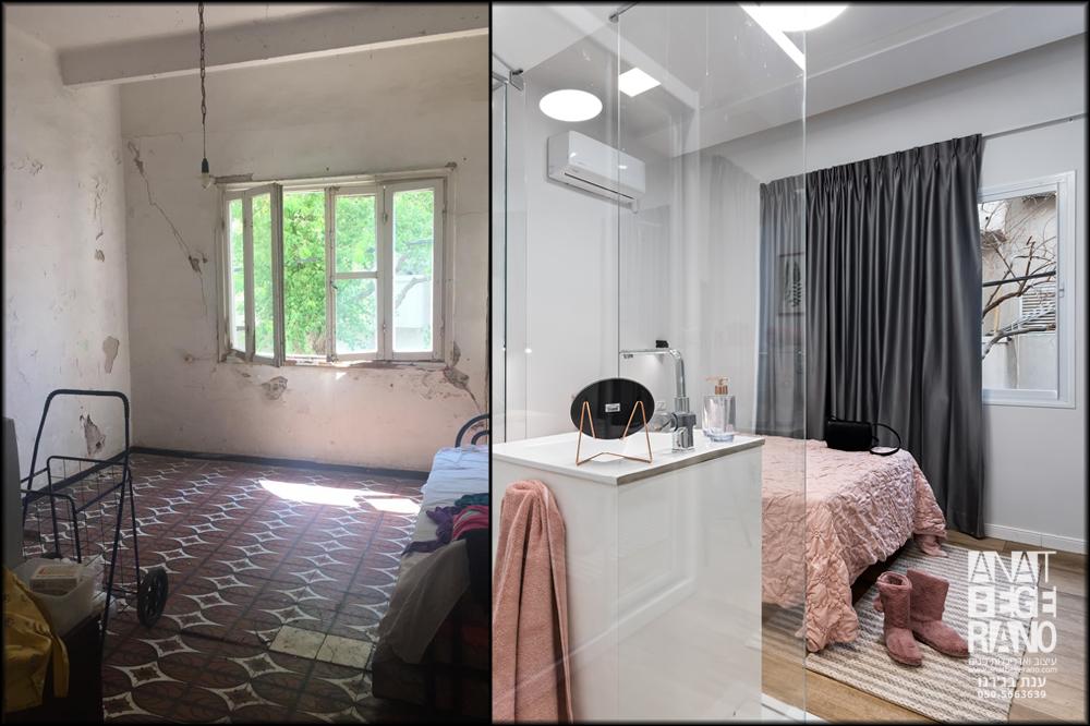 חדר שינה ראשון לפני ואחרי