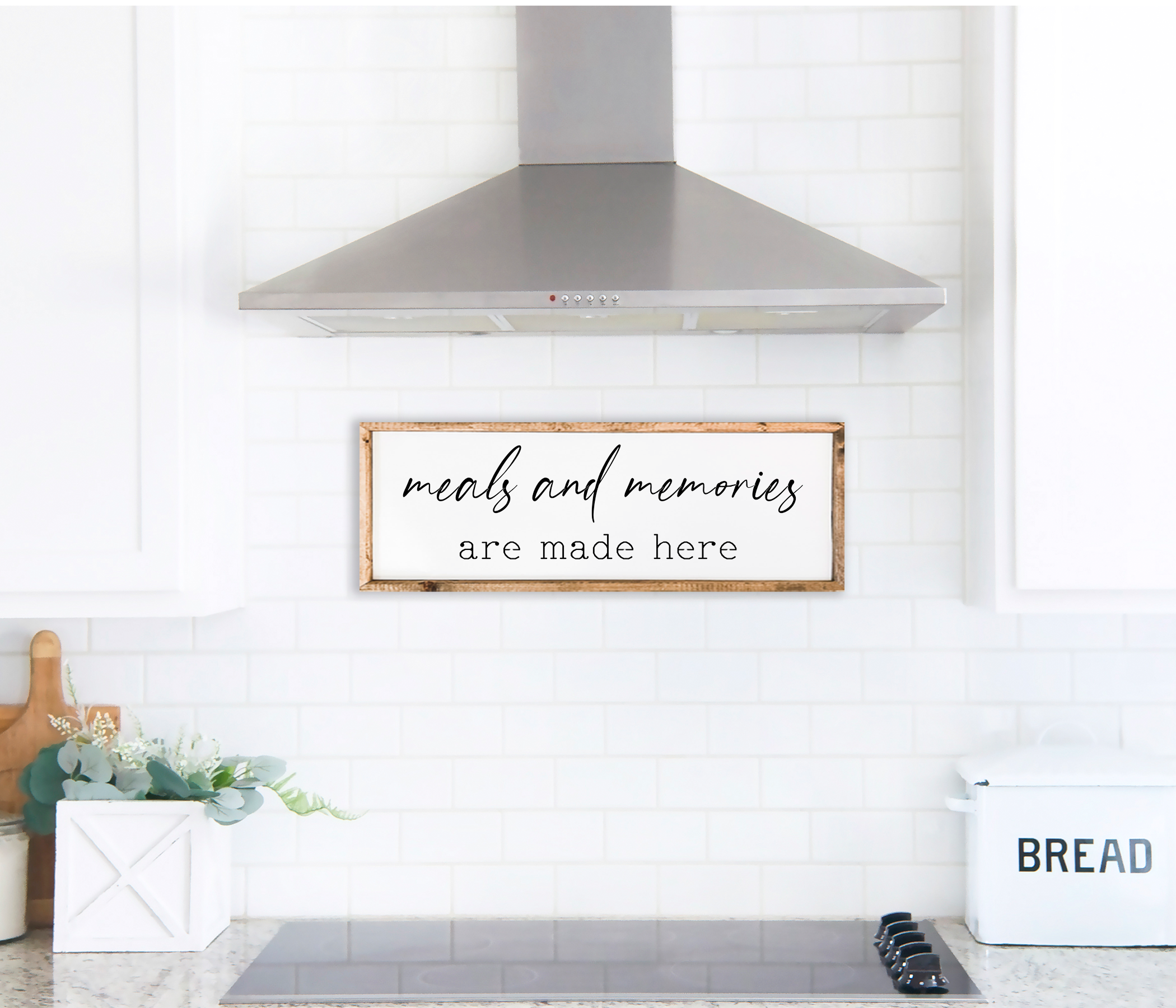 Meals and Memories Farmhouse Kitchen Wal
