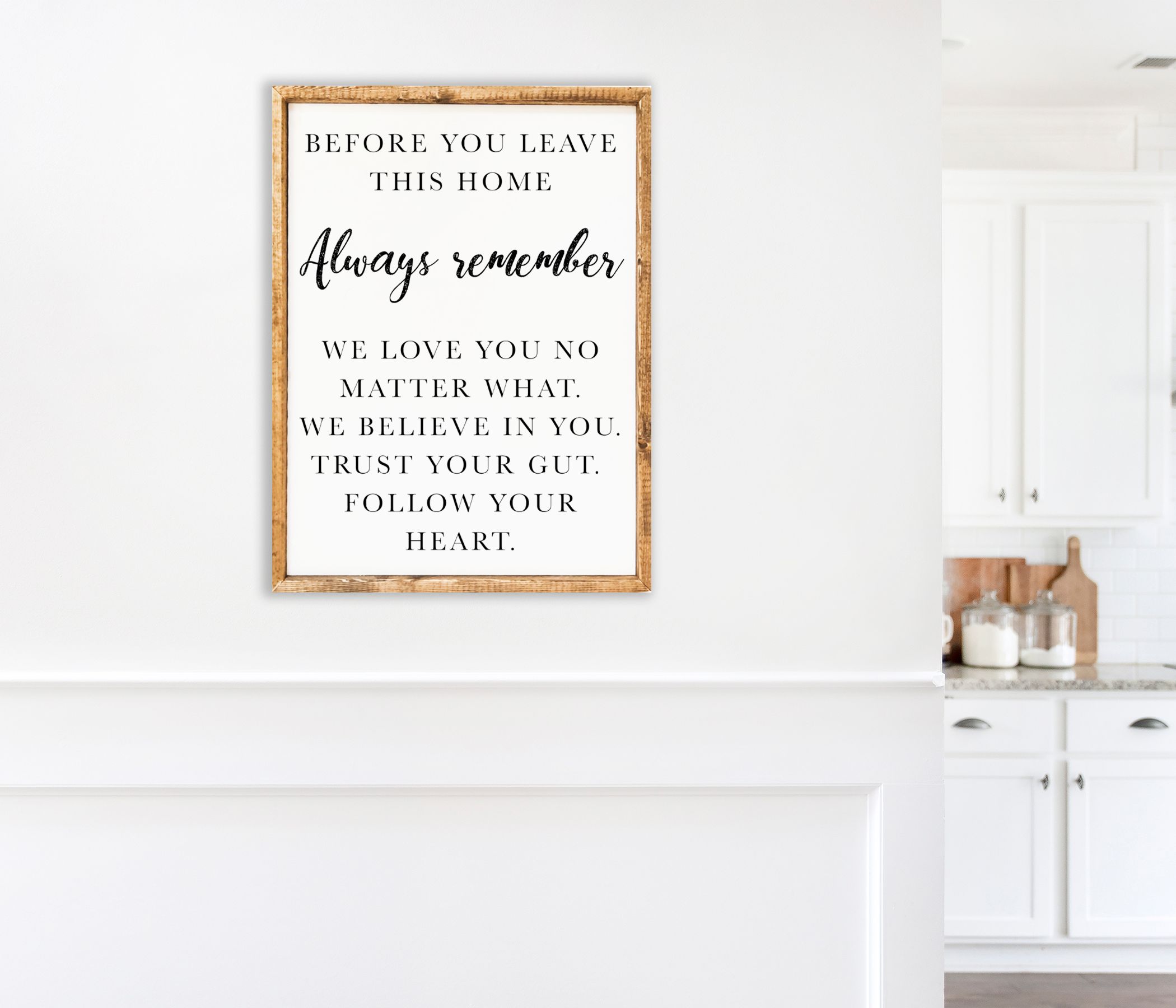 Always Remember Inspirational Home Decor