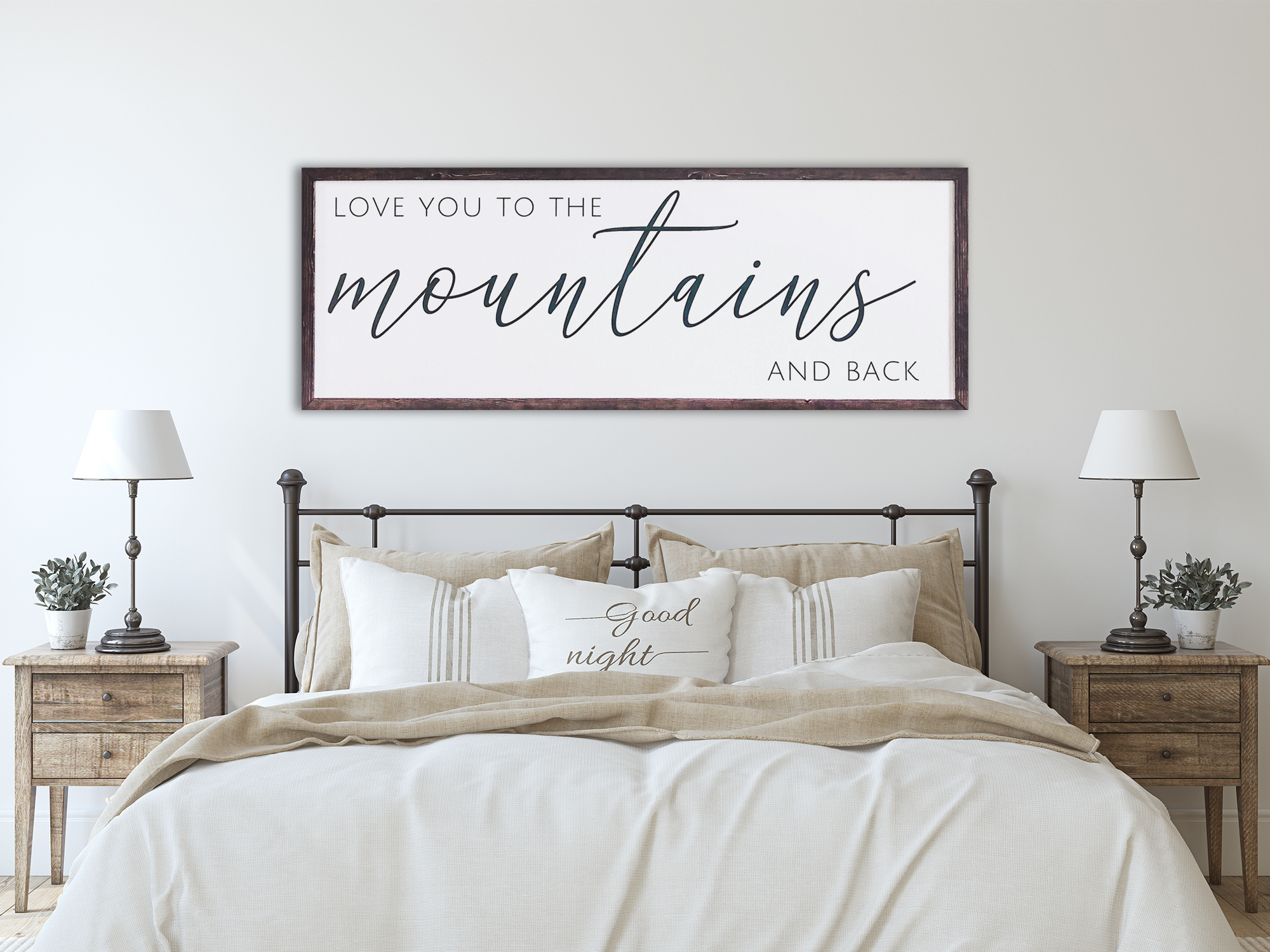 Love You to the Mountains Home Decor Sig
