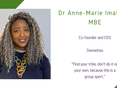 Maths and Computing Awardee 2020: Dr Anne-Marie Imafidon MBE