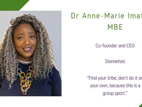 Maths and Computing Awardee 2020: Dr Anne-Marie Imafidon MBE