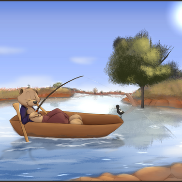 Fishing in the Outback