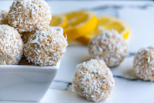 Coconut Lemon Protein Bites