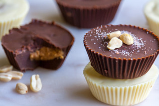 Light and Dark Peanut Butter Cups
