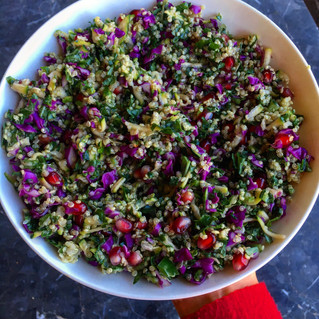 Quinoa Kale Pomegranate Salad