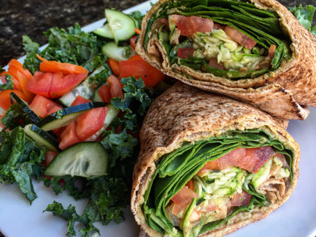Spinach Avocado Wrap