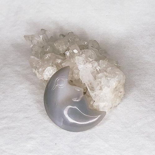 Druzy Agate Gemini Moon