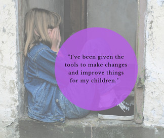 """I've been given the tools to make changes and improve things for my children.  Before I got the help from NDAS the children's needs weren't being met and I recognise that now."""