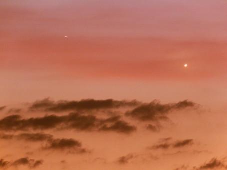 Venus y Mercurio en el atardecer tras la conjunción